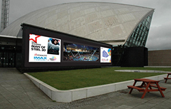 ITAB, in partnership with Wavetec, has been awarded the Glasgow Science Center outdoor LED Display Project
