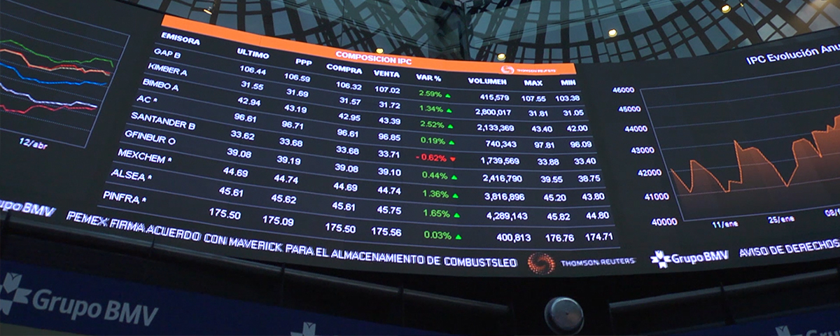 Wavetec installs the biggest Indoor LED display in Latin America at the Mexican Stock Exchange Group's auction floor