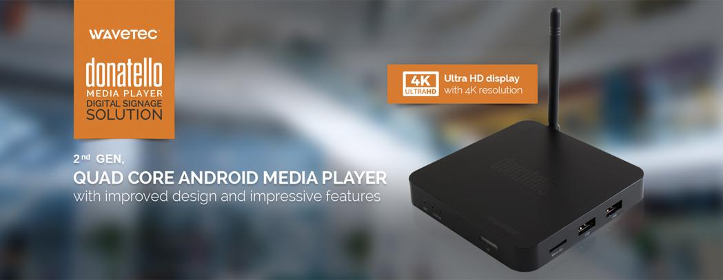 Wavetec Launches 2nd Generation 4K Donatello Digital Signage Player