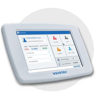 teller tablet calling station wavetec