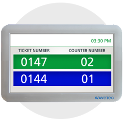 led display counter wavetec ticket ticket number