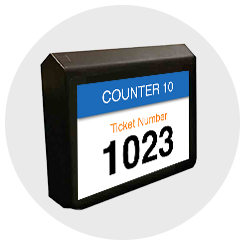 counter ticketnumber wavetec led
