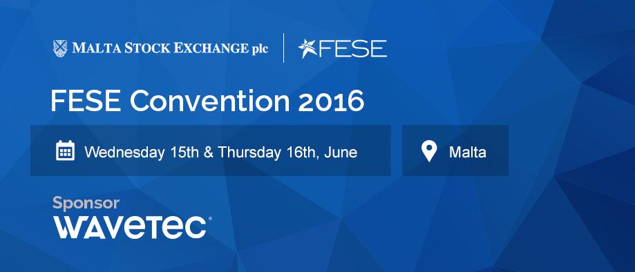 Wavetec se asocia con la Federación Europea de Bolsas de Valores para la Convención FESE 2016, Malta