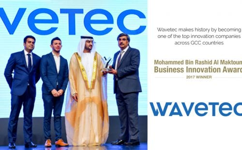 Wavetec takes home Mohammed Bin Rashid Al Maktoum Business Innovation Award across GCC