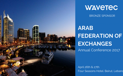 Wavetec sponsors Arab Federation of Exchanges Annual Conference 2017