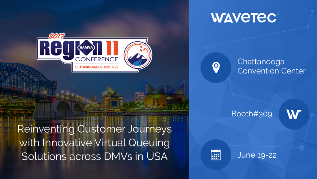 Wavetec is all set to showcase its solutions to DMVs at AAMVA Region II Conference 2017