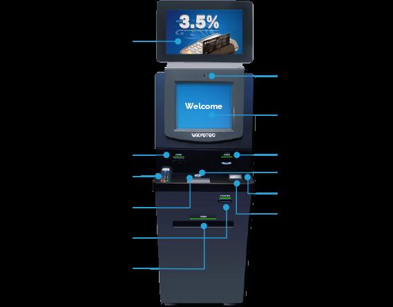 account opening kiosk self service wavetec kiosks