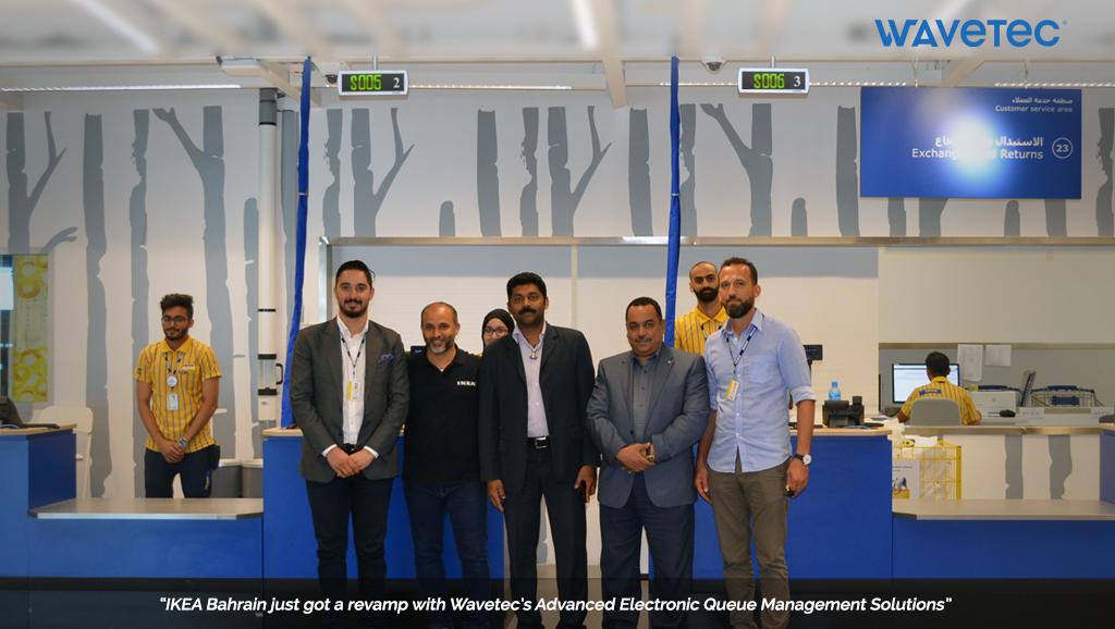A.A Bin Hindi-EEMD Installs Wavetec Queue Management Solutions for IKEA Bahrain