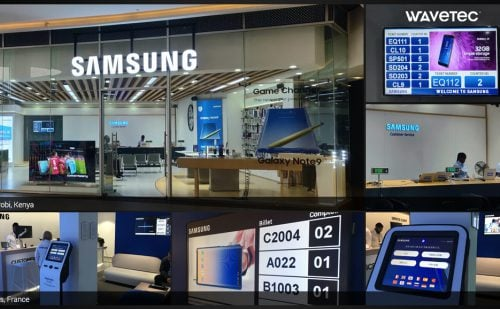 Wavetec Deploys Queue Management System at Samsung's Most Exclusive Stores in France, Kenya, and Spain