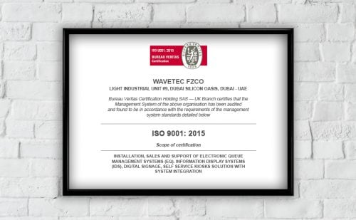 Wavetec is proud to announce achieving ISO 9001:2015 quality standards certification based on new ISO 2015 guidelines
