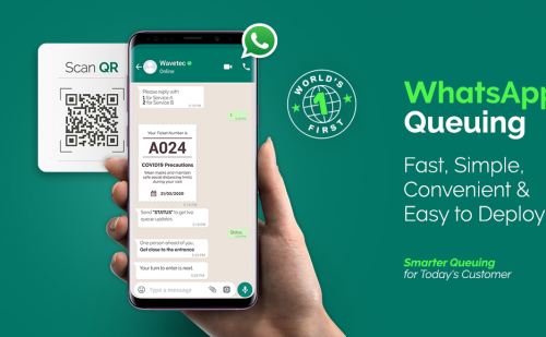 Wavetec Launches Worlds First WhatsApp Enabled Virtual Queuing System