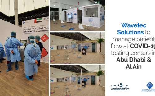 SEHA and AHS partners with Wavetec to manage resident flow at COVID-19 testing centers in Abu Dhabi & Al Ain